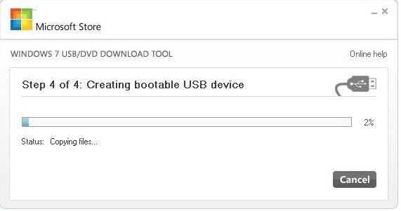 Создание загрузочного USB устройства