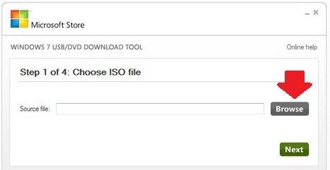 Microsoft Store - Выбор ISO файла