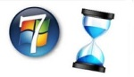 Логотип Windows 7 и песочные часы