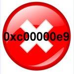 Ошибка 0xc00000e9