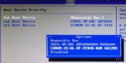 Приоритеты загрузки в BIOS
