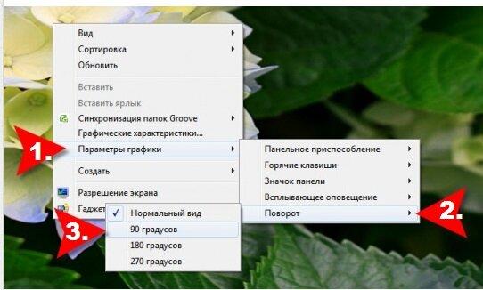 Как сделать повернуть экран