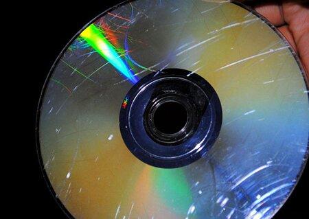 Поцарапанный диск