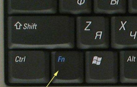 Служебная клавиша Fn