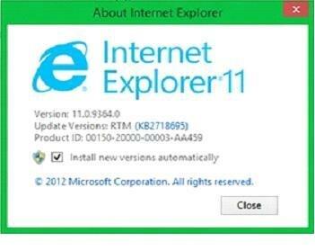 О программе IE 11