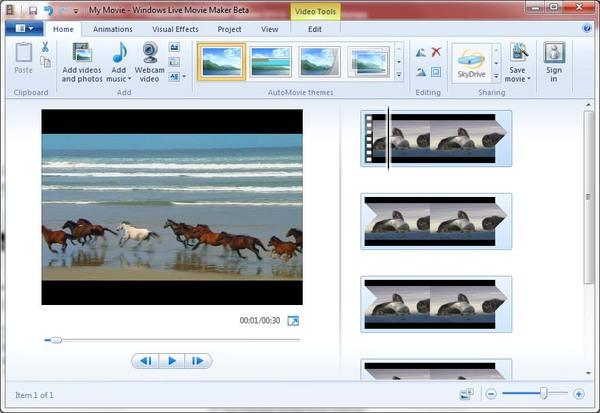 Киностудия «Windows Live Movie Maker»