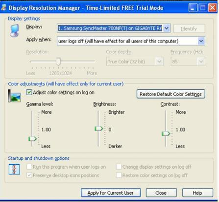 Display Resolution Manager