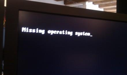 Ошибка missing operating system Windows 7