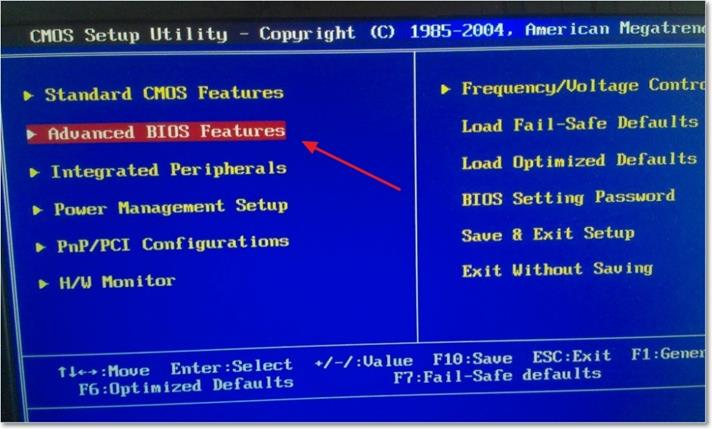 «Advanced BIOS Features»