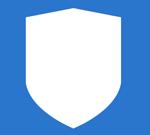 Белый щит на синем фоне