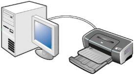 Принтер, подключенный к компьютеру