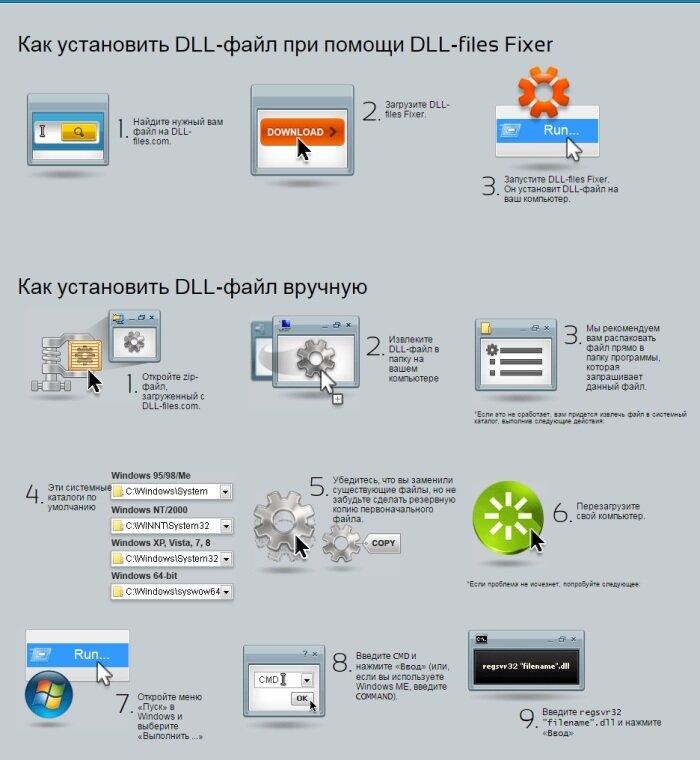 Установка DLL-файла