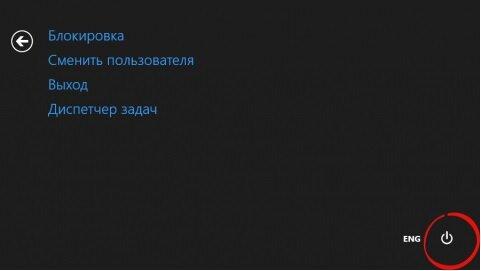Окно при нажатии сочетания клавиш Ctrl+Alt+Del