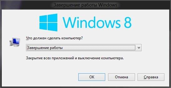 Окно при нажатии сочетания клавиш Alt+F4
