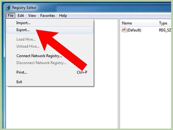 Экспорт из Registry Editor