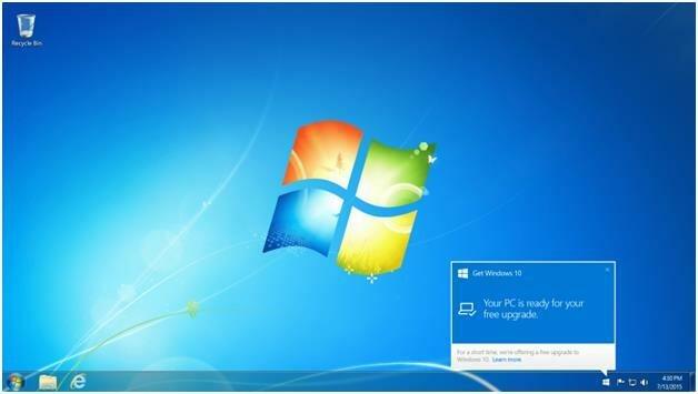 Get Windows 10 в трее