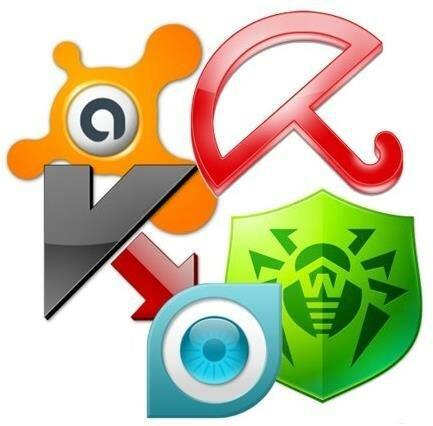 Логотипы разных антивирусов