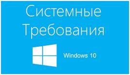 Системные требования Windows 10