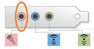 Инонки на гнездах звукового адаптера