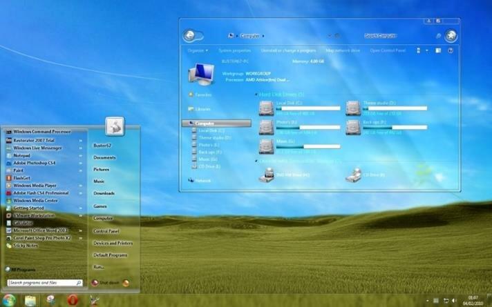 Как windows 7 сделать прозрачным фото 187